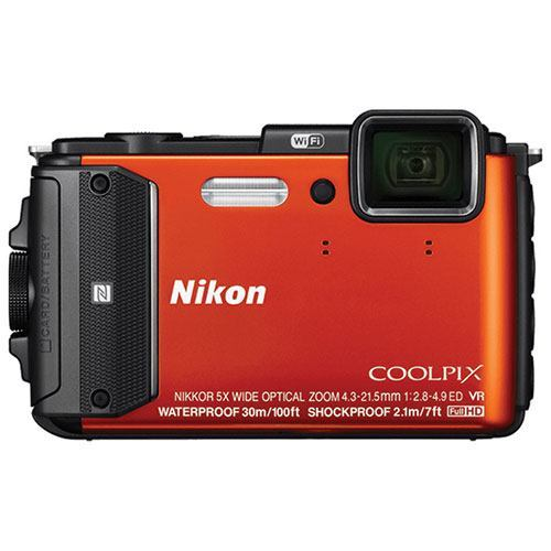 Nikon COOLPIX Waterproof and Wi-Fi Digital Camera with a GPS